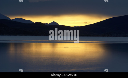 Sunset, Salar de Uyuni, Bolivia - Stock Photo