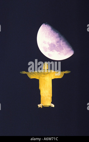 Christ the Redeemer statue Corcovado Rio de Janeiro Brazil - Stock Photo