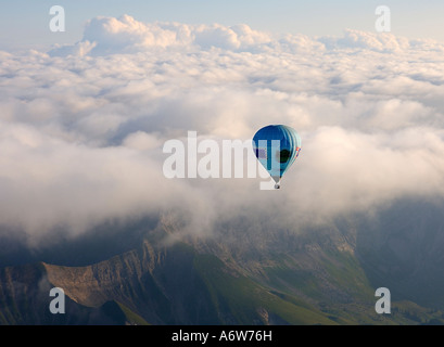 Hot air balloon ride, Chateau-d'Oex, Switzerland - Stock Photo