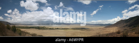 ngorongoro crater Tanzania view - Stock Photo