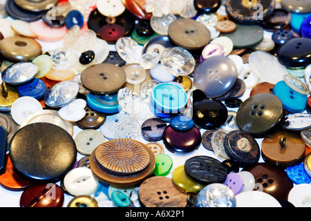 Multi-colored, Vast Selection of Buttons - Stock Photo
