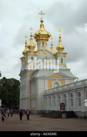 Church in Bolshoy Palace in Peterhof - Stock Photo
