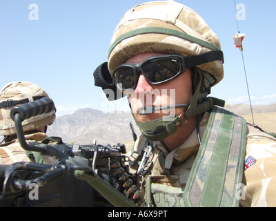 British soldier on a vehicle patrol - Stock Photo