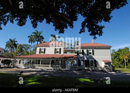 Southwest Ft Fort Meyers Myers Florida FL Edison and Ford Winter Estates Seminole Lodge - Stock Photo