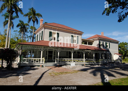Southwest Ft Fort Meyers Myers Florida FL Edison and Ford Winter Estates Seminole Lodge - Stock Photo
