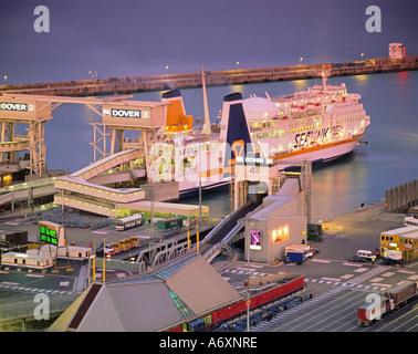 Eastern Docks Port of Dover Kent England United Kingdom - Stock Photo