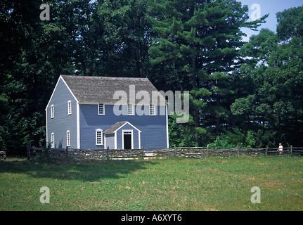 Friends Meeting House in Old Sturbridge  Village Massachusetts USA - Stock Photo