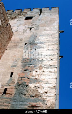 Alcazaba Tower Alhambra Granada Spain - Stock Photo
