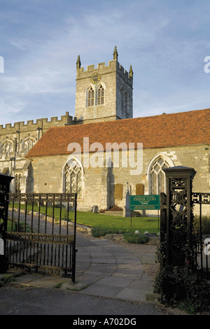 Eighth century Saxon church of St Peter Wootton Wawen Wooten Wawen the oldest church in the county Warwickshire - Stock Photo