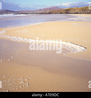 Beach at low tide Isle of Harris Outer Hebrides Scotland - Stock Photo