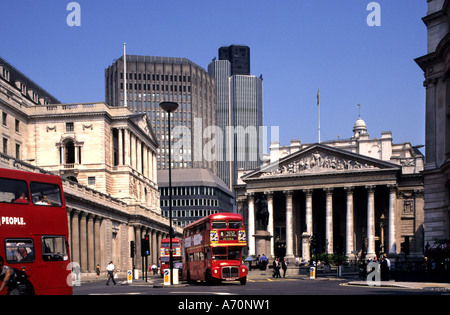 The Royal Exchange City  Stock Bank Banking London - Stock Photo
