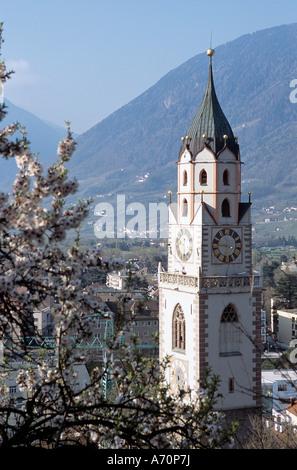 Meran Pfarrkirche /  parish church of Merano parish church of Merano - Stock Photo