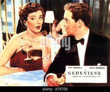 GENEVIEVE 1953 GDF/Sirius film with Kay Kendall as Rosalind Peters and John Gregson as Alan McKim - Stock Photo