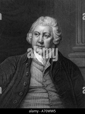 SIR RICHARD ARKWRIGHT 1732 to 1792 English industrialist and inventor of mechanical spinning - Stock Photo