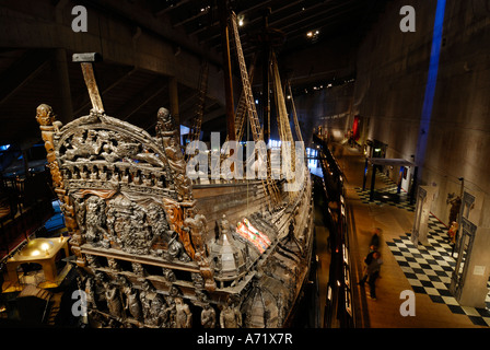 The well preserved 17th century battleship Vasa at the Vasa museum in Stockholm is one of Sweden's biggest tourist attractions