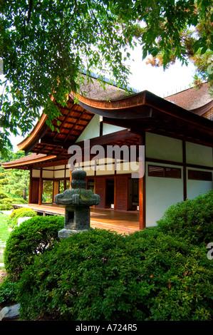 Japanese House And Garden In Fairmount Park In Philadelphia Pennsylvania    Stock Photo