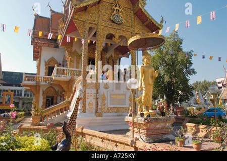 Wat Bupparam. Chiang Mai, Thailand. - Stock Photo