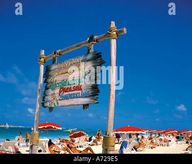 Orient Beach Sign In Saint Martin France West Indies