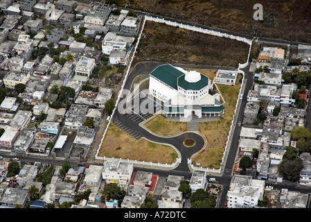 aerial view of mosque in Port Louis city - Stock Photo