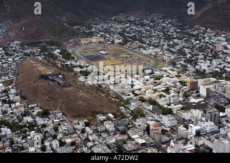 aerial view of Port Louis city - Stock Photo