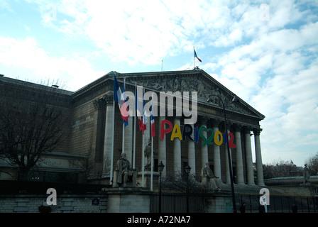 Assemblee Nationale Paris France - Stock Photo