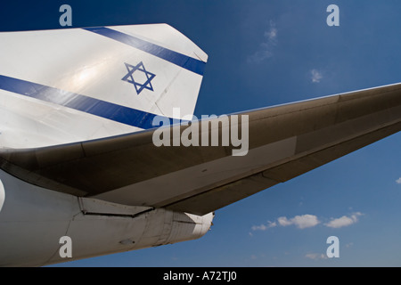 Stock Photo of Israeli El-Al Airlines 747-400 Tail - Stock Photo