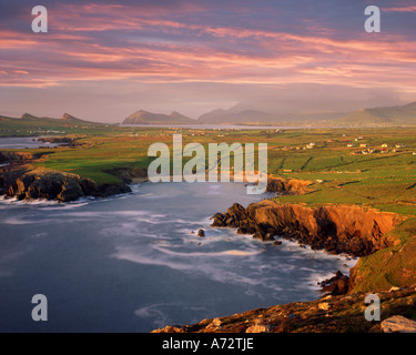 IE - CO. KERRY:  Ballyferriter Bay on Dingle Peninsula seen from Clougher Head - Stock Photo
