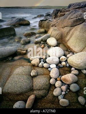 IE - CONNEMARA:  Beach Detail on Omey Island - Stock Photo