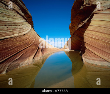 Coyote buttes, Grand Staircase Escalante National Monument, Utah - Stock Photo