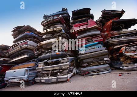 Scrap metal lot - Stock Photo