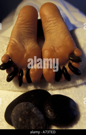 CARIBBEAN, Spa Treatment Hot rocks therapy. Deep relaxation, sedating (MR) - Stock Photo