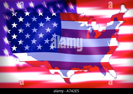 travel the world concept us flag and map ilration stock po