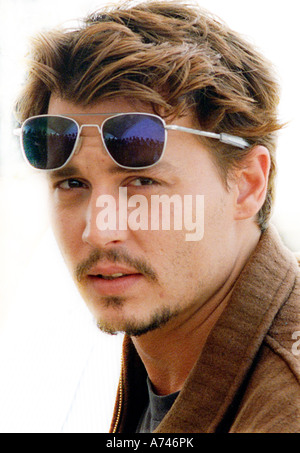 CANNES FILM FESTIVAL FRANCE JOHNNY DEPP ACTOR PROMOTING FEAR AND LOATHING IN LAS VEGAS - Stock Photo