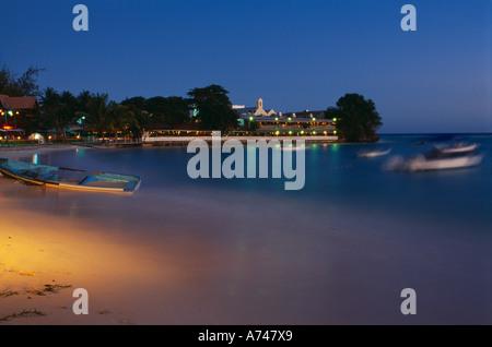 beach at St Lawrence Gap dusk South West Coast Barbados