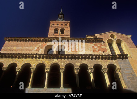 Iglesia de San Martin, San Martin Church, Roman Catholic church, Plaza de Medina del Campo, Segovia, Segovia Province, - Stock Photo