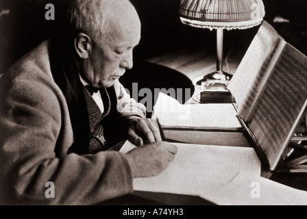 RICHARD STRAUSS German composer 1864 to 1949 - Stock Photo