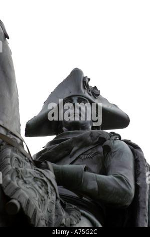 Frederick the Great equestrian statue Unter Den Linden berlin germany - Stock Photo