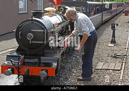 River Esk-2-8-2 locomotive. - Stock Photo