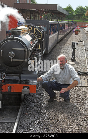 River Esk-2-8-2 locomotive, designed by Henry Greenly and built in 1923 by Davy Paxman of Colchester. - Stock Photo