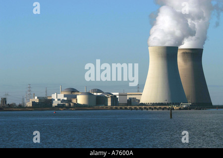 Nuclear power plant Antwerp - Stock Photo