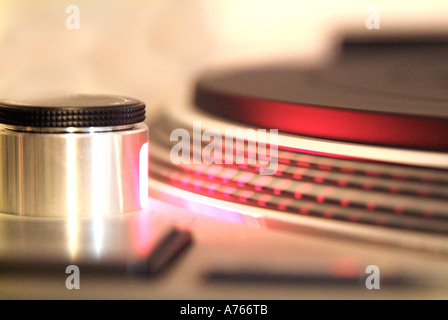 Record player Start / Stop button - Stock Photo
