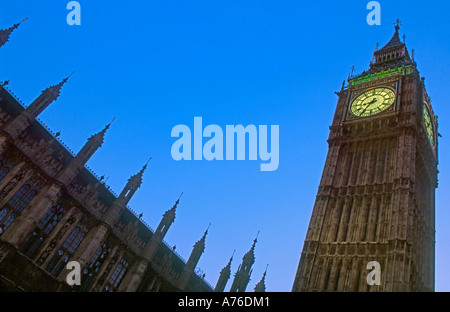 Abstract shot of Big Ben and the Houses of Parliment at dusk. - Stock Photo