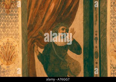 Fresco, Mozarthaus, Vienna - Stock Photo