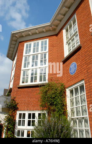 The Freud Museum previously the house where the psychoanalyst Sigmund Freud lived in Maresfield Gardens Hampstead - Stock Photo