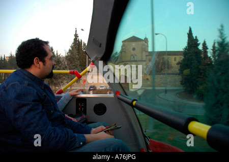 Cartuja Monastery from tourist bus GRANADA Andalusia Region Spain - Stock Photo