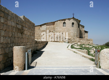 Franciscan church on Mt Nebo,Jordan - Stock Photo