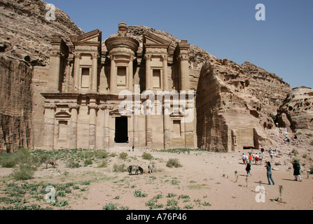 Jebel Al Deir Monastery in Petra,Jordan. - Stock Photo