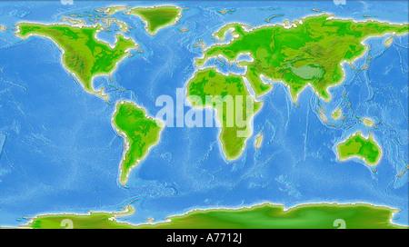 World Map Illustration - Stock Photo