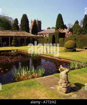 Peover Hall Gardens in Spring, Over Peover, Near Knutsford, Cheshire, England, UK - Stock Photo