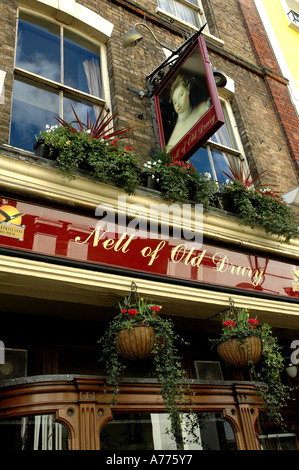 Nell of old Drury- A pub in Covent garden London England - Stock Photo